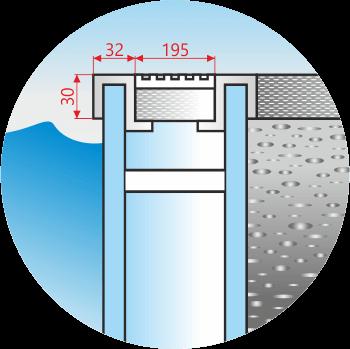Aluminium Overflow Drain